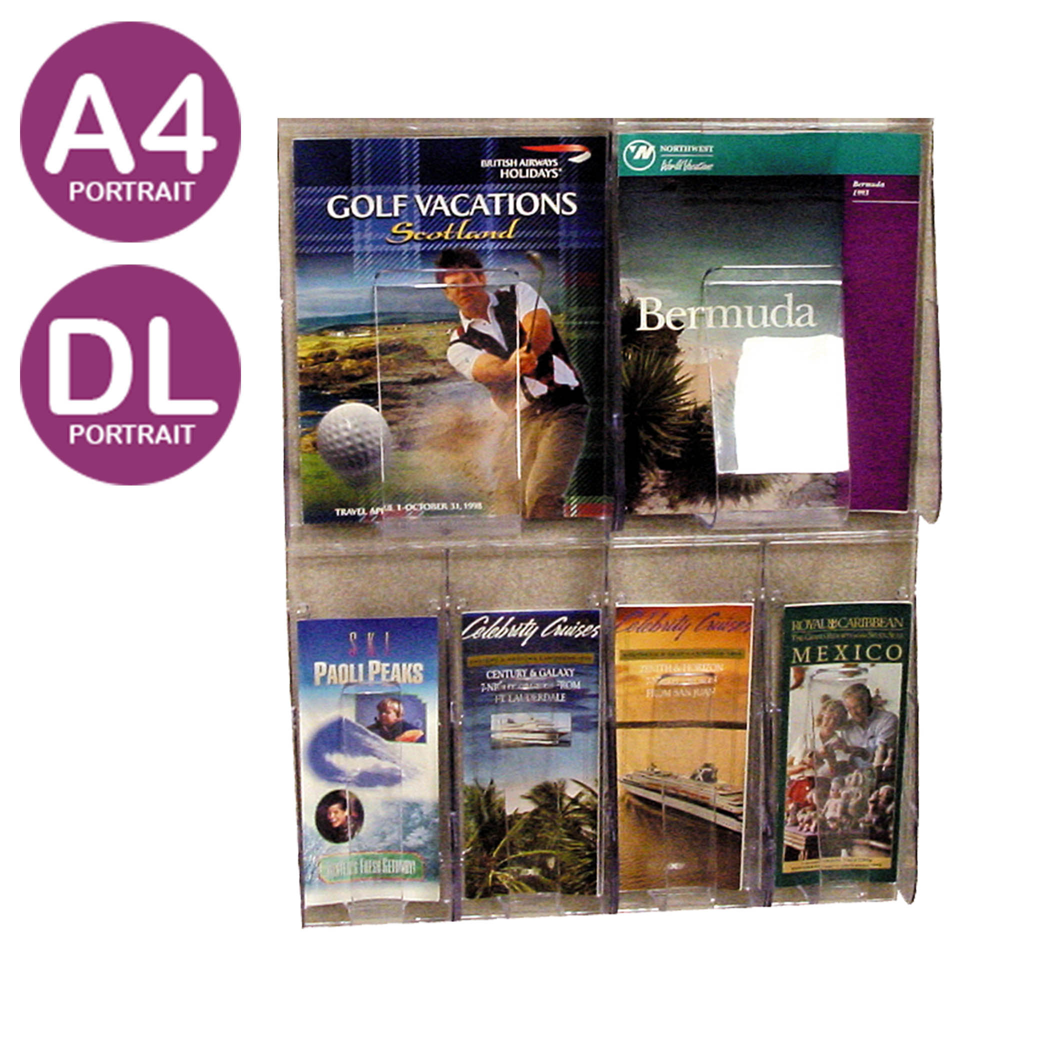wooden wall brochure holders stands display mounted mount x rack with regard dimensions furniture to literature decor